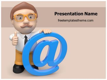 14 best communication free powerpoint ppt templates images on free at sign powerpoint template toneelgroepblik Choice Image