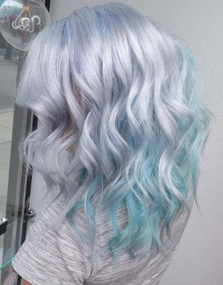 39 Trendy Hair Color Blue Highlights Aqua Ombre Hair Color Silver Hair Color Hair Styles
