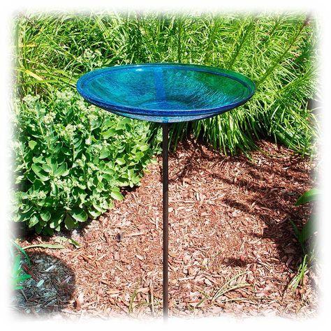 Teal Achla Designs Crackle Bowl