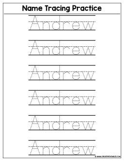 Custom Name Tracing Worksheet Preview Create Custom Printables