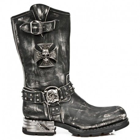 Mens biker boots fashion with Iron Cross | Accesorios