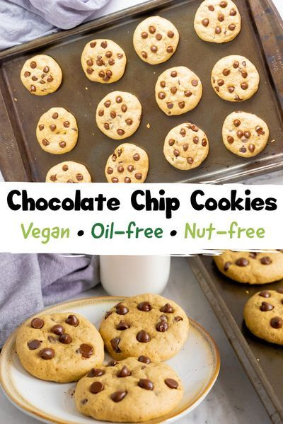 Vegan Soft Chocolate Chip Cookies No Chill Recipe In 2020 Easy Vegan Cookies Chocolate Chip Cookies Dessert Recipes