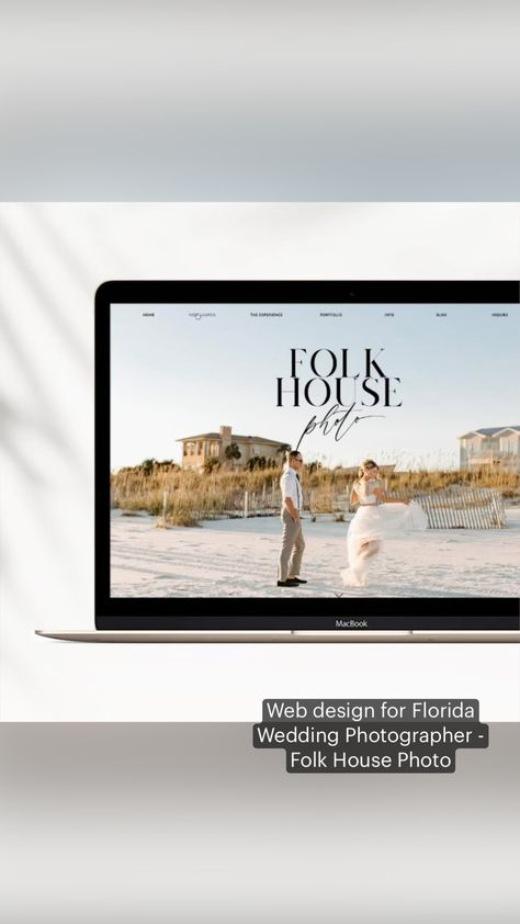 Web design for Florida Wedding Photographer -  Folk House Photo