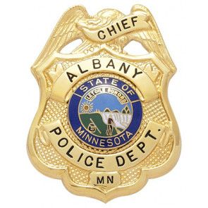 Us State Of Minnesota City Of Albany Police Department Chief Badge Police Police Badge Police Department