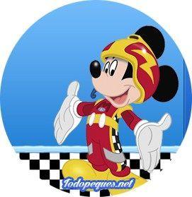 Topper Mickey Sobre Ruedas Fiesta De Mickey Mouse