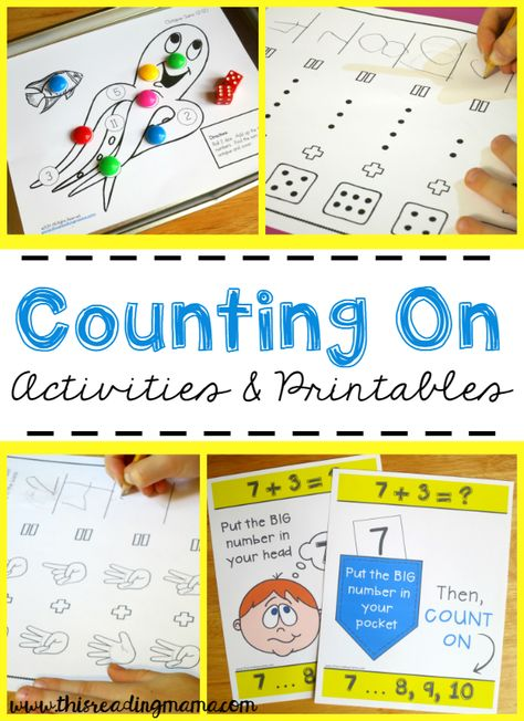 FREE Counting On Activities and Printables | This Reading Mama