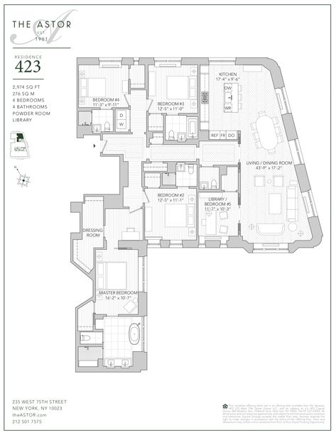 The Astor Upper West Side Condos Residence 423 Apartment Floor Plans Floor Plans City Living Apartment