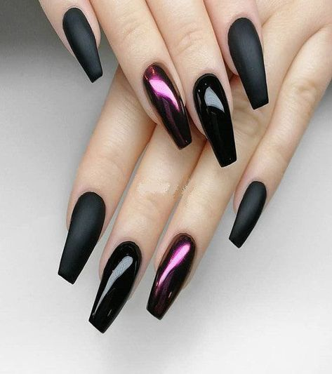 Premium Black With Xtreme Matte Nail Designs For Visit here and check out the Latest & Perfect Combination Style of Nail Designs for the Modern Decade of Manicure style are the Modern way to get the more attraction in any event.
