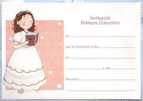 invitaciones de primera comunion gratis para editar