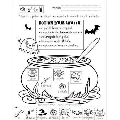 Potion d'Halloween, préscolaire