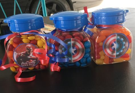 mini candy jar favors with civil war decoupage civil war bday