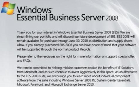 Microsoft discontinuing midmarket server | Beyond Binary - CNET News