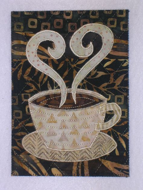 Java Jitters Coffee Cup Wall Quilt SEWING QUILTING PATTERN