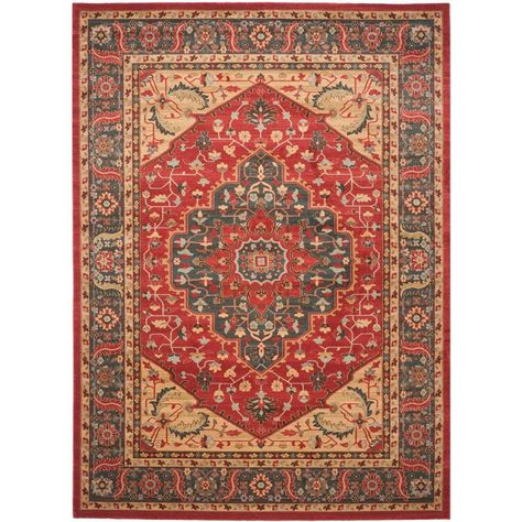 Safavieh Mahal Navy Red 8 Ft X 11 Ft Area Rug Area Rugs Traditional Area Rugs Red Rugs
