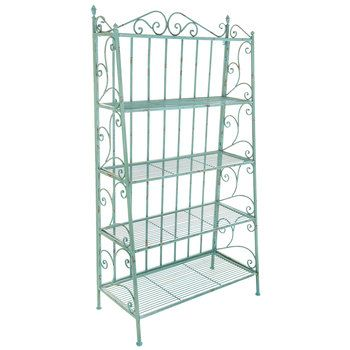 Turquoise Distressed Five Tiered Metal Baker S Rack Hobby Lobby 1021096 Bakers Rack Hobby Lobby Furniture Decor