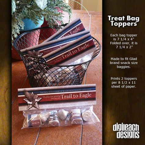 Eagle Scout Court of Honor Treat Bag Topper: Gray Eagle - Digital File
