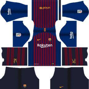 Dream League Soccer Kits Barcelona 2018 19 Kit Logo Soccer League Barcelona Team Soccer Kits