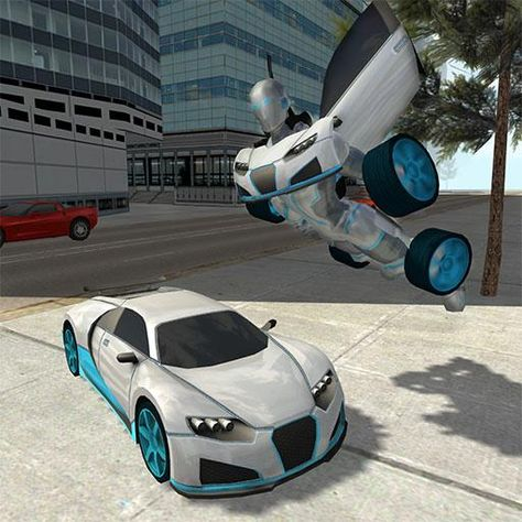 Flying Car Robot Simulator V1 Mod Apk Money Unlocked Http Ift
