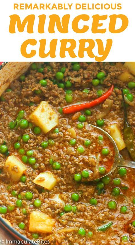 Minced Curry Recipe Minced Beef Recipes Curry Recipes Meat