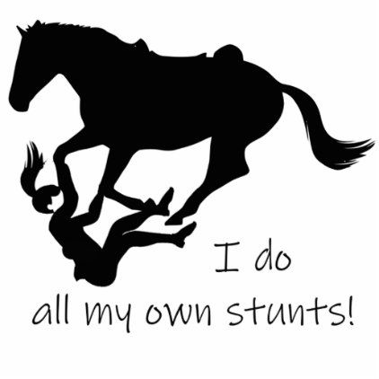 I Do My Own Stunts Horses Funny Quote Cutout Zazzle Com Horse Quotes Funny Funny Quotes Horse Quotes