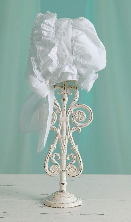 Sew Beautiful Blog A Triple Ruffle Bonnet From Martha S Attic Baby Bonnets Bonnets Baby Heirloom