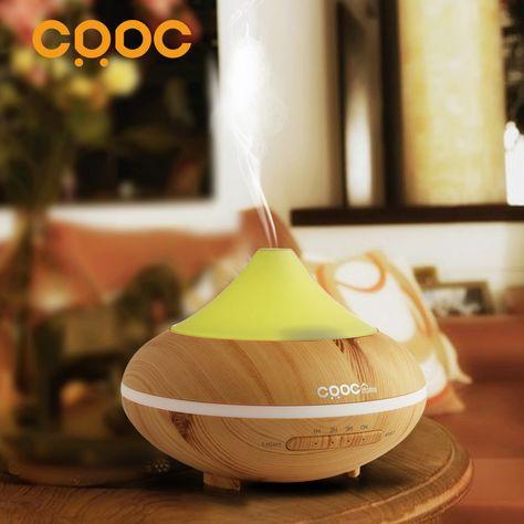LED Ultraschall Luftbefeuchter 400ml Aromatherapie Ätherisches Öl Diffusor