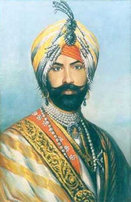 A Sikh Maharaja  [Oil color painting on cotton canvas]  | Sikhpoint.com    #sikhpoint