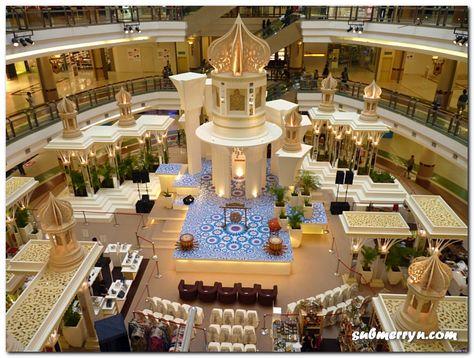 hari raya mall decoration : 1 utama | dekorasi, lebaran