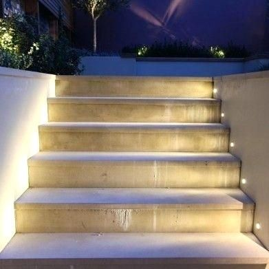 Beautiful Exterior Step Lights And Set Into The Planter