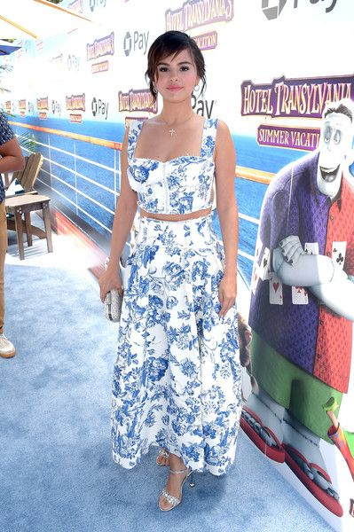 Selena Gomez attends the Columbia Pictures and Sony Pictures Animation's world premiere of 'Hotel Transylvania 3: Summer Vacation' at Regency Village Theatre.