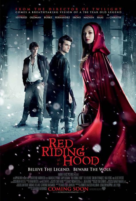 Red Riding Hood - Review: Red Riding Hood (2011) is a 1h 40-min American dark mystery fantasy historical romance that is… #Movies #Movie