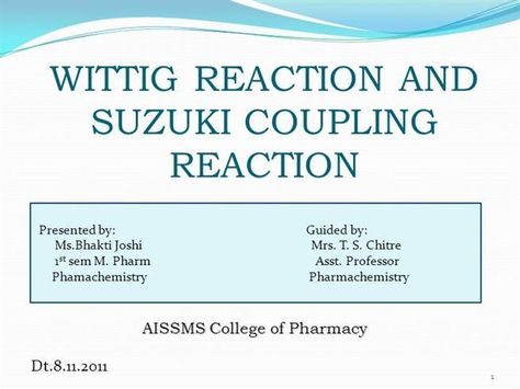 wittig reaction n suzuki reaction mechanism by tipu3785 via authorSTREAM