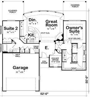 Zwei Bedroom Ranch Home 42211db Ranch 1st Floor Master House Plans Ranch House Floor Layout
