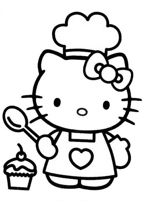 72 Disegni Da Colorare Di Hello Kitty Kolorowanki Ilustracje I