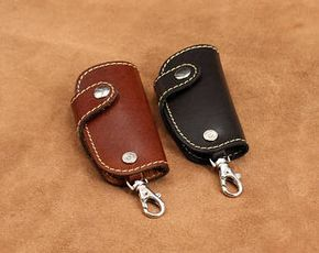 Men/'s Keychain Crazy Horse Genuine Leather Car Key Hook Keyring Ring Key Holder