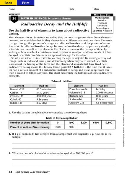 10 Math In Science Integrated Science Worksheet Science Worksheets Earth Science Science Homework
