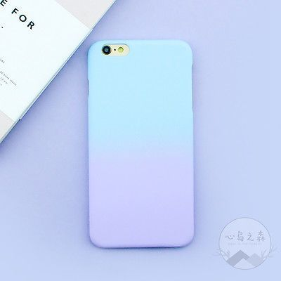 Fashion Simple Cute Purple Blue Matte Hard Case Cover Skin For Iphone 6 6s Plus Blue Iphone 6 Plus Case Iphone Phone Cases Iphone 6splus Cases Phone Cases