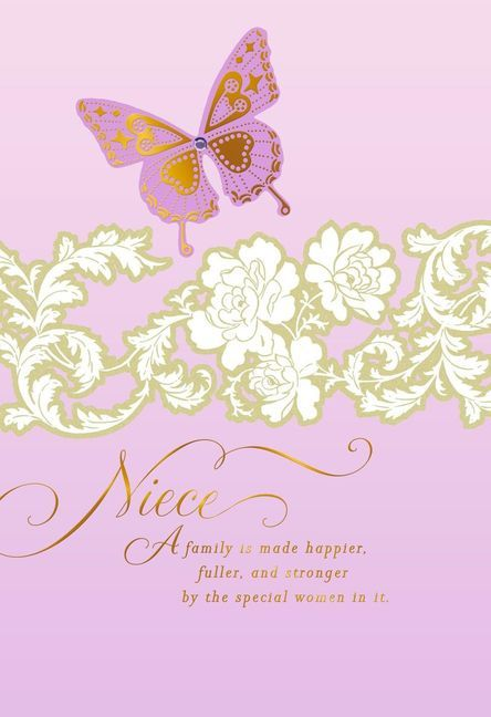 Lavender Butterfly Card For Niece On Mother S Day In 2021 Happy Birthday Niece Happy Birthday Wishes Images Birthday Wishes And Images