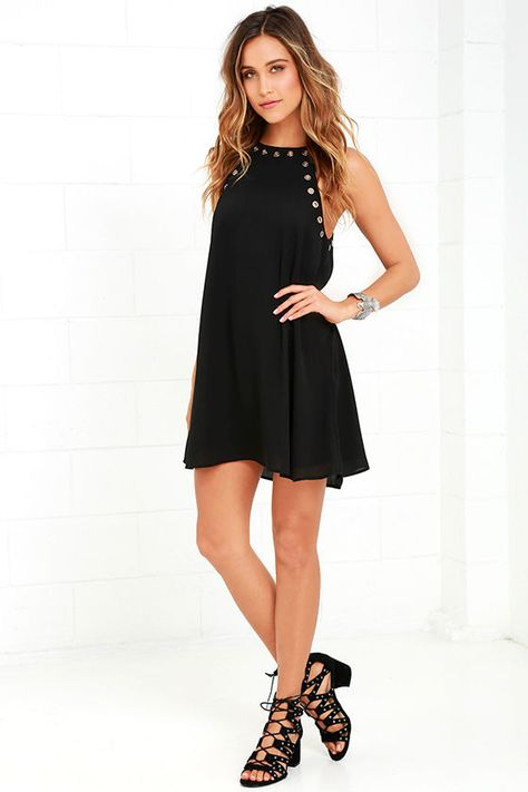 c05623fa35a2 ... thanks to the Amara Black Swing Dress! This sleeveless