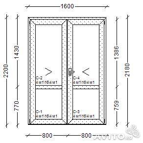 входные двери ширина двойной двери