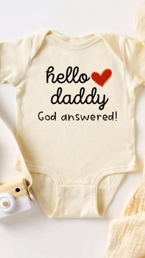 Our Baby Bodysuits are the perfect idea for your pregnancy announcement! A sweet christian baby announcement to celebrate your miracle. Every child is a gift from God and it is our hope that our baby onesie is a sweet reminder that every baby boy & baby girl is created by the hand of God. #pregnancyannouncementsocialmedia #pregnancyannouncementtohusband #pregnancyannouncementtoparents #cutepregnancyannouncement #pregnancyannouncementonesie #babyannouncement #christianpregnancyannouncement