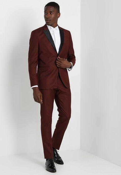 Outlet zu verkaufen Vielzahl von Designs und Farben weit verbreitet SLHONE PEAKBUCK TUX SUIT REGULAR FIT - Anzug - rum raisin ...