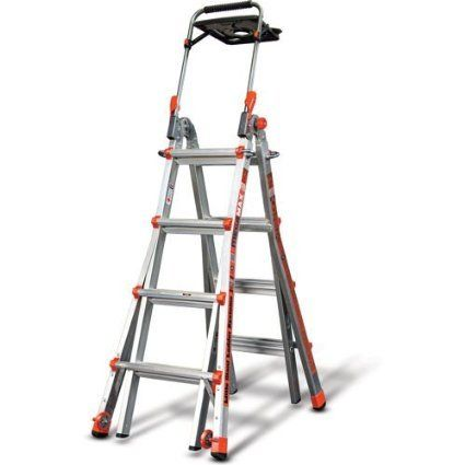Little Giant 4 6 Ft Ladder With Air Deck Comfort Step And Wheels