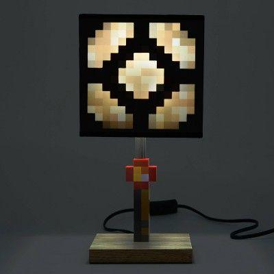 Minecraft Glowstone Table Lamp In 2020 Minecraft Bedroom Decor Video Game Room Decor Minecraft Room