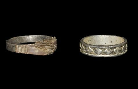 Medieval Silver Finger Ring Group: 16th century AD and later.