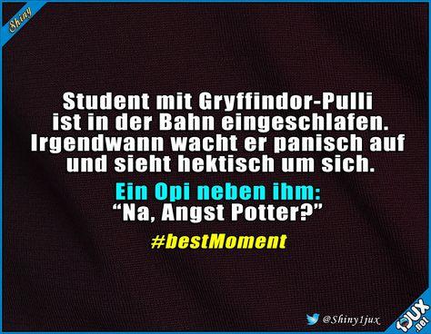 Opi ist kein Muggel :P #Gryffindor #Pulli #Potter #witz #witze #Spaß #humor #lustiges