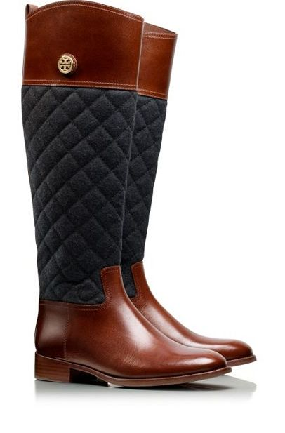 quilted riding boots by tory burch #fallfashion #fashion ... : brown quilted riding boots - Adamdwight.com