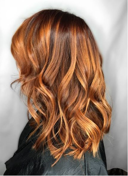 45 Best Shades Of Red Hair Color 2018 2019 Knowledge Regarding Hairstyles Fashion Shades Of Red Hair Color Melting Hair Balayage Hair Copper