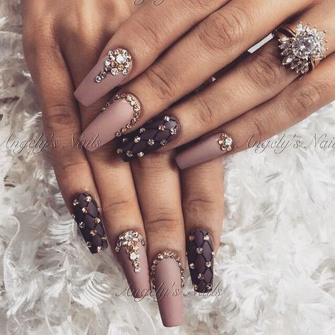 80+ Dark Color Nail Designs for Women - NailGet - Get The Best Nail Designs