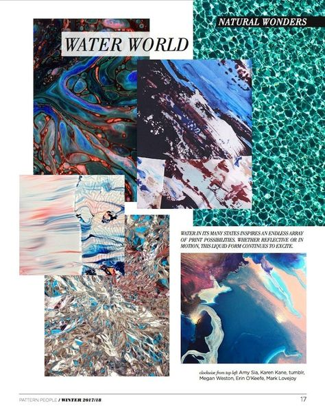 #Pattern People FW 17/18 trend preview, Water World, on #WeConnectFashion